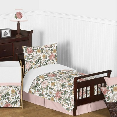 Toddler Bedding Collection Vintage Floral Pink/Green - Sweet Jojo Designs