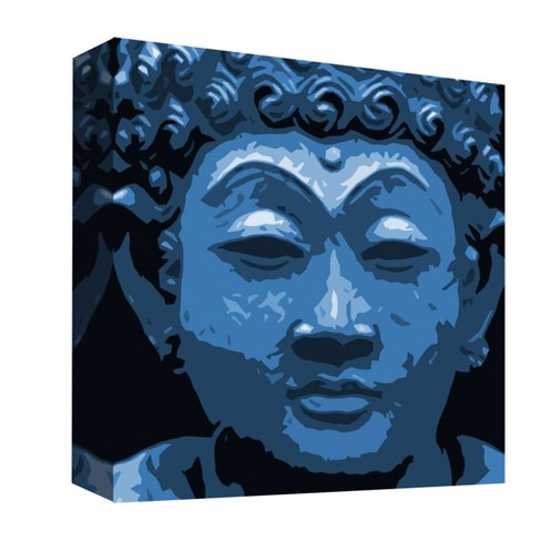 "Blue Buda I Decorative Canvas Wall Art 16""x16"" - PTM Images - image 1 of 1"