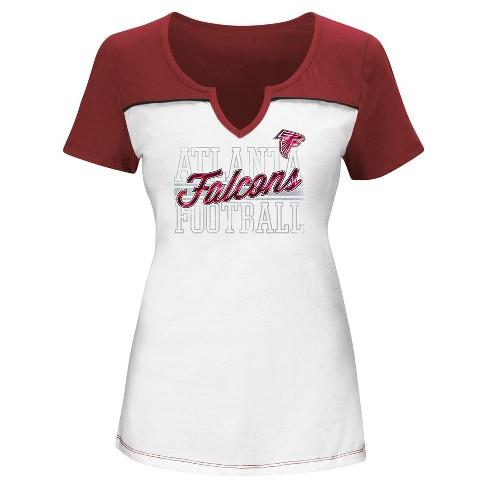 huge selection of 71387 06b98 Atlanta Falcons Women's Fashion T-Shirt - S
