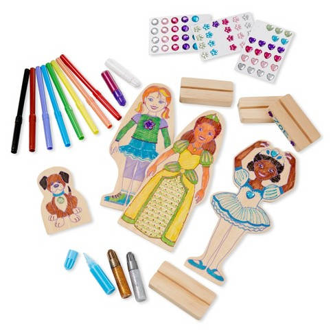Melissa and Doug Decorate Your Own Wooden Doll Magnets Activity Kit - image 1 of 1