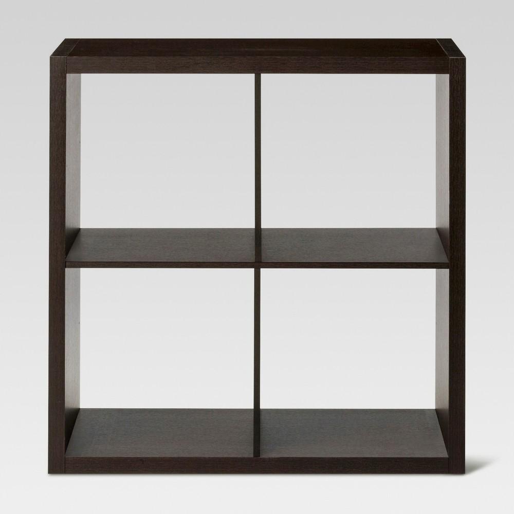 13 34 4 Cube Organizer Shelf Espresso Brown Threshold 8482