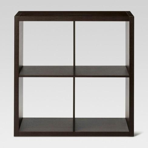 "13"" 4 Cube Organizer Shelf Espresso Brown - Threshold™ - image 1 of 3"