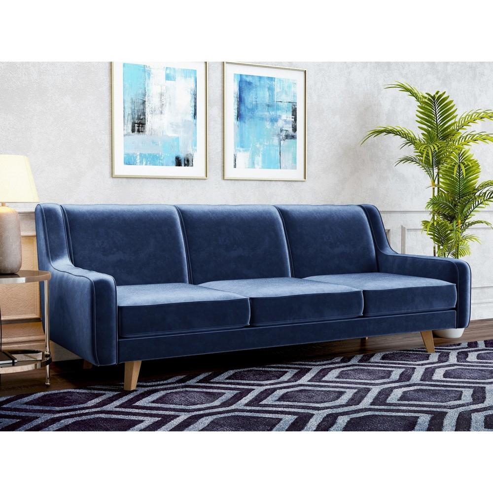 Image of Hazel Modern Velvet Sofa Royal Blue - AF Lifestlye