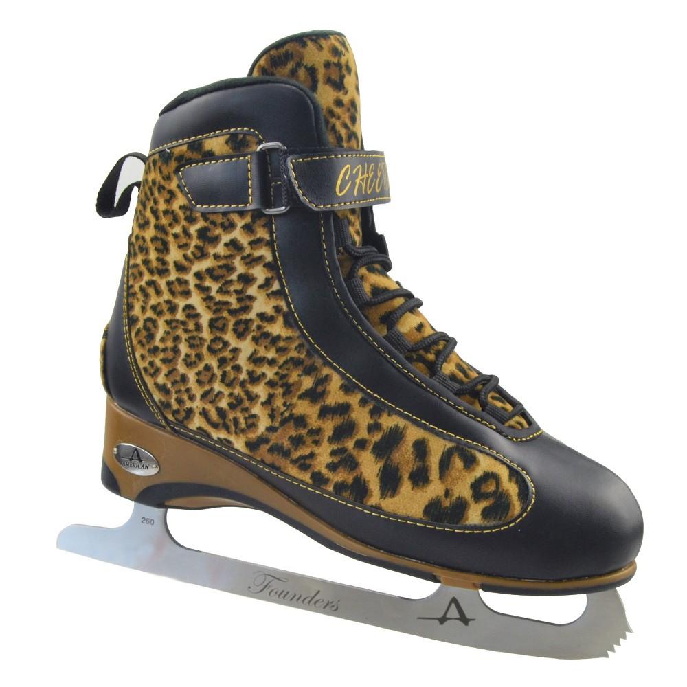 American Ladies Softboot Figure Skate - Gray and Plum (8)