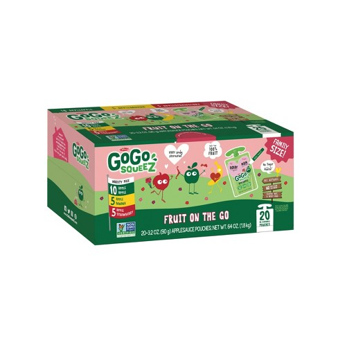 GoGo SqueeZ Valentines Fruit Pouches 20ct - 3.2oz - image 1 of 1