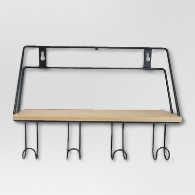 Wood and metal wall shelf - Threshold™