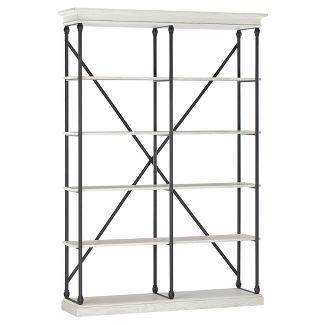 "84"" Belvidere 5 Shelf Etagere Bookshelf White - Inspire Q"