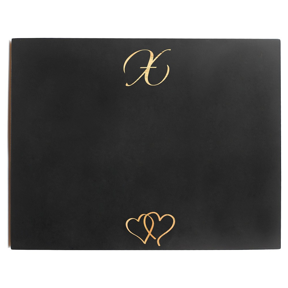 Monogram Wedding Chalkboard Sign - S