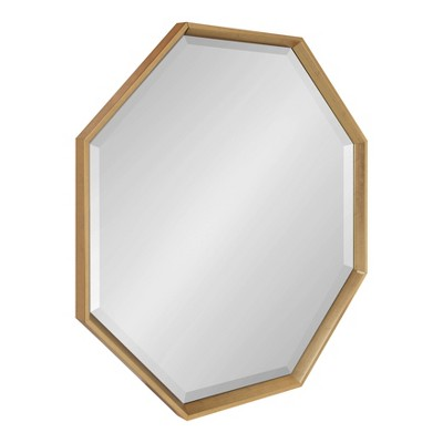 "31.5"" x 31.5"" Calter Large Octagon Framed Wall Mirror Gold - Kate and Laurel"