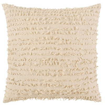 """20""""x20"""" Oversize Poly Filled Textured Square Throw Pillow Natural - Rizzy Home"""