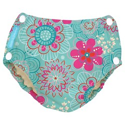 Charlie Banana Reusable Easy Snaps Swim Diaper - Floriana (Assorted Sizes)