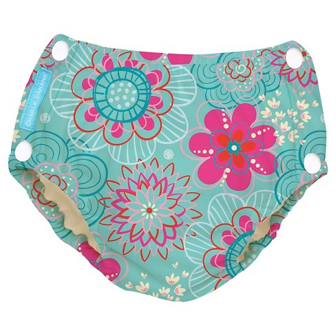 Charlie Banana Reusable Easy Snaps Swim Diaper - Floriana (Assorted Sizes) - image 1 of 4