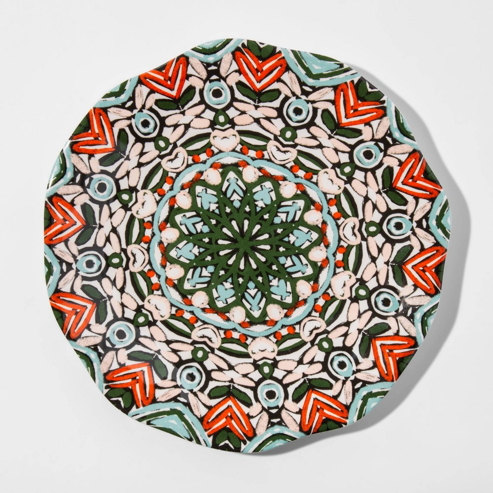 "Image of ""10.5"""" Melamine Medallion Dinner Plate - Opalhouse"""