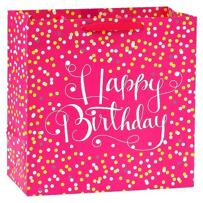Large Confetti Birthday Gift Bag Pink - Spritz™