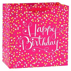 Confetti Pink  Birthday Gift Bag - Spritz™