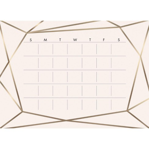 Blush Beauty Dry Erase Calendar Peel and Stick Giant Wall Decal - RoomMates - image 1 of 3