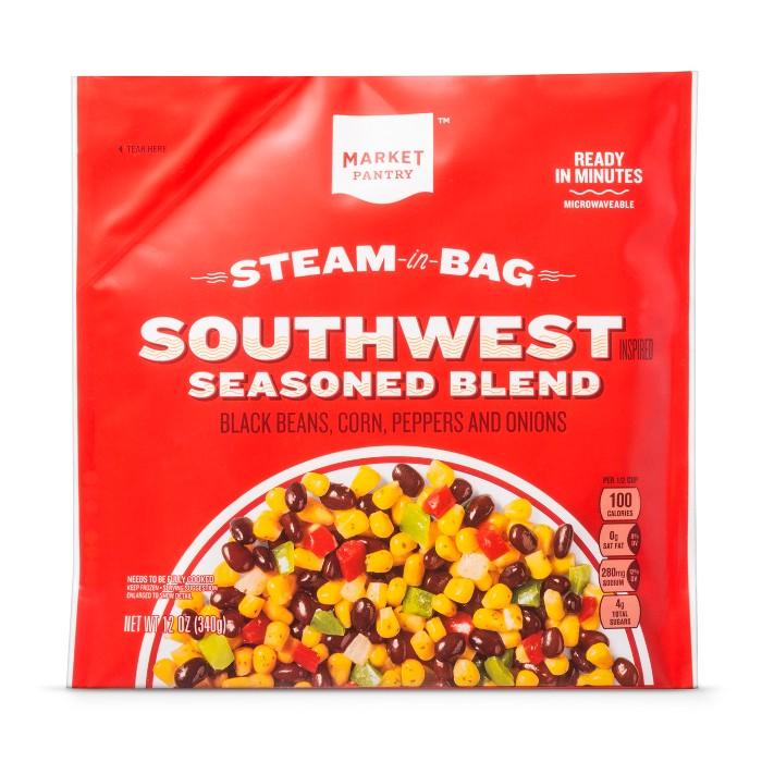 Steam-in-bag Frozen Corn & Black Bean Southwest Blend - 12oz - Market Pantry™ - image 1 of 1