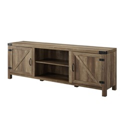 Modern Farmhouse Barn Door TV Stand - Saracina Home