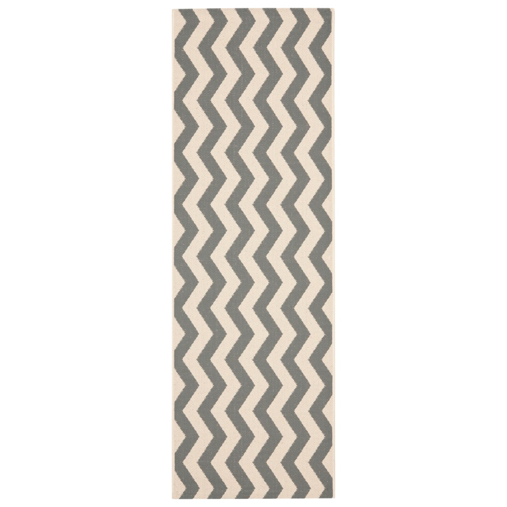 Wels Outdoor Rug - Gray / Beige (2'3 X 8') - Safavieh, Gray/Beige