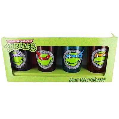 Just Funky Teenage Mutant Ninja Turtles Faces 16oz Pint Glass 4-Pack