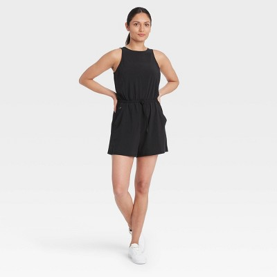 Women's Stretch Woven Romper - All in Motion™