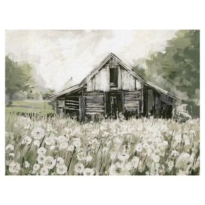 30 x40  Dandelion Barn By Studio Arts Art On Canvas - Fine Art Canvas