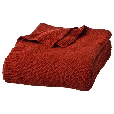 Full/Queen Sweater Knit Bed Blanket Salsa - Threshold™