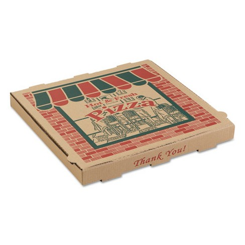 ARVCO Corrugated Pizza Boxes 16w x 16d x 1 3/4h Kraft 9164314 - image 1 of 1
