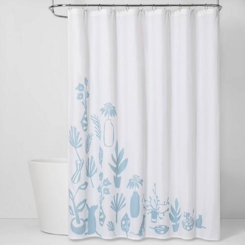 CVC Shower Curtain Antiquity Blue - Room Essentials™ - image 1 of 3