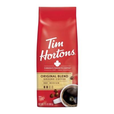 Tim Hortons Original Blend Medium Roast Ground Coffee - 24oz