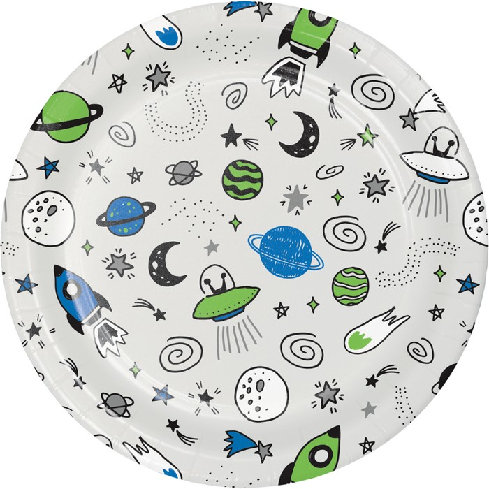 10ct Space Dinner Plate - Spritz™ - image 1 of 1