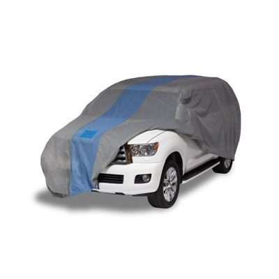 """Duck Covers 13""""x6"""" Defender SUV Automotive Exterior Cover Light Gray"""