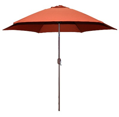 9.75' x 9.75' Round Crank Patio Umbrella - Rust