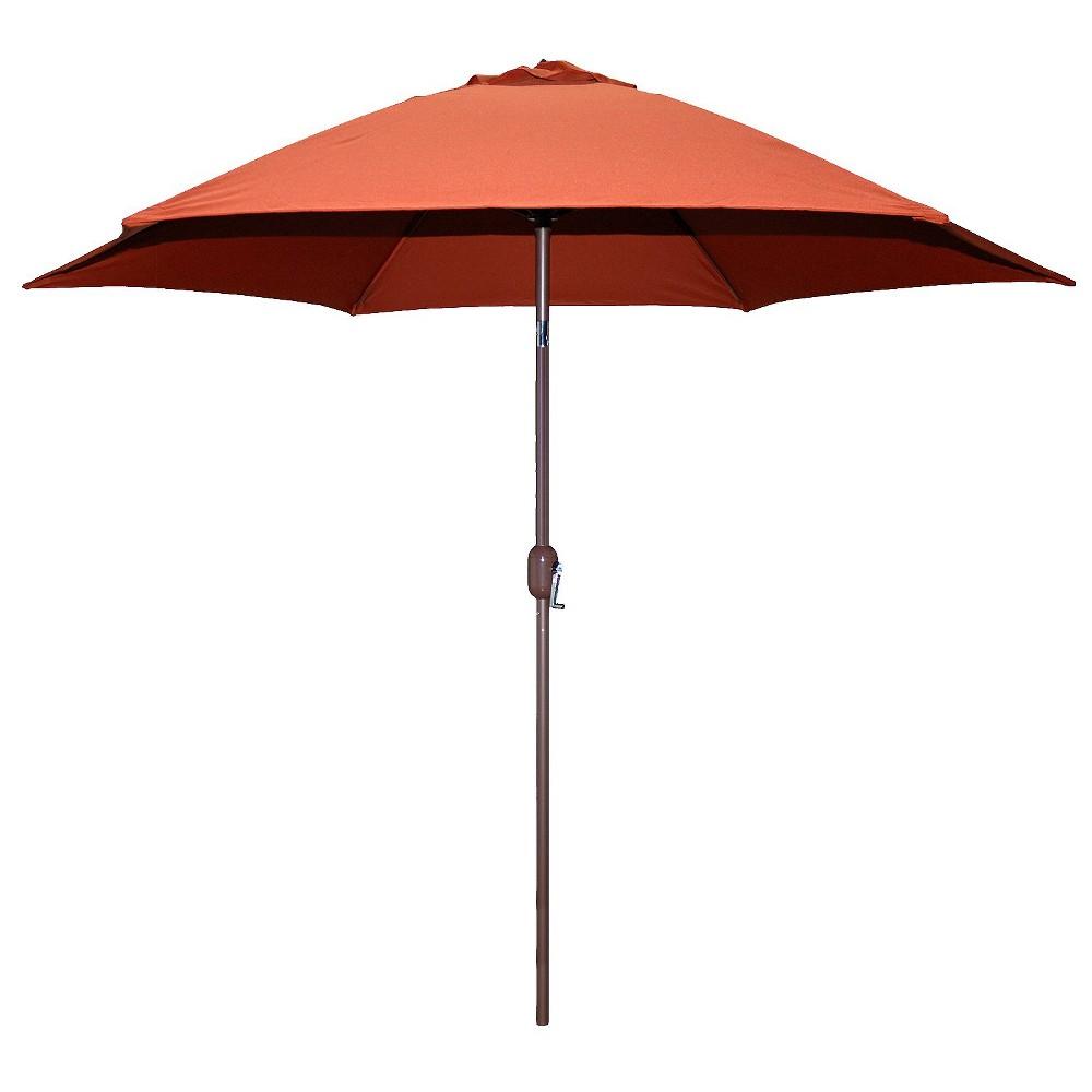 Image of 9' Round Crank Patio Umbrella - Rust