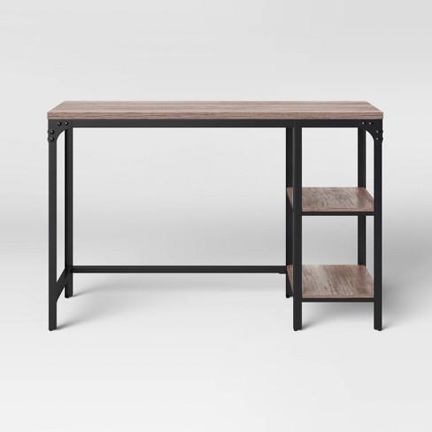 Jackman Wood Writing Desk With Storage Threshold Target