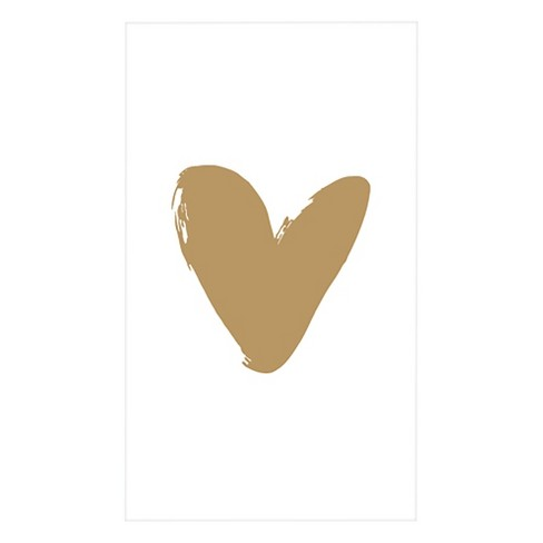 Gold Heart Formal Gift Tags - image 1 of 1