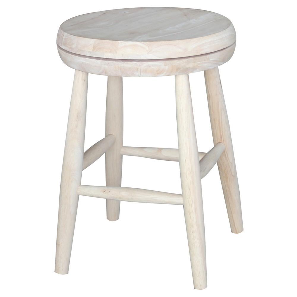 Jonathan Swivel Scooped Seat 18 Stool - Unfinished - International Concepts, Wood
