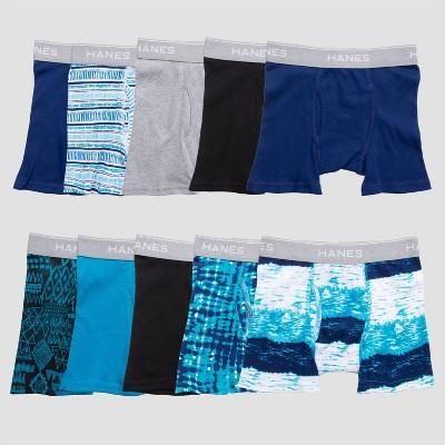 Hanes Boys' 10pk Boxer Briefs - Colors May Vary