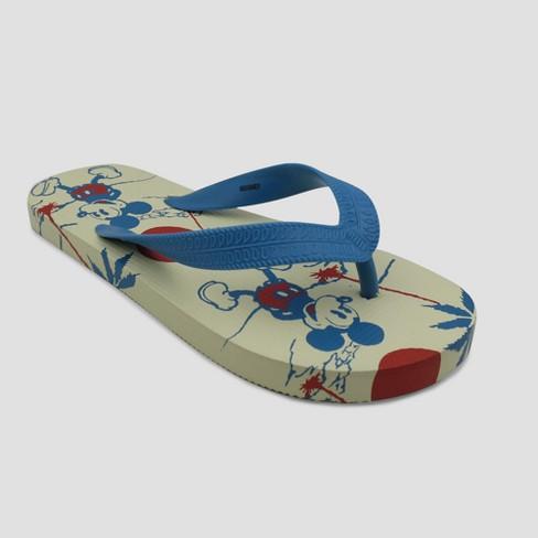 Boys' Disney Mickey Mouse Flip Flops - Blue - image 1 of 3