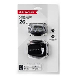 Schwinn Quick Wrap Bike Lights 5 LED – Black