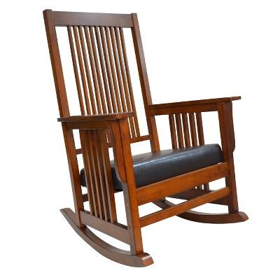 Thomas Mission Rocker - Chestnut - Carolina Chair and Table