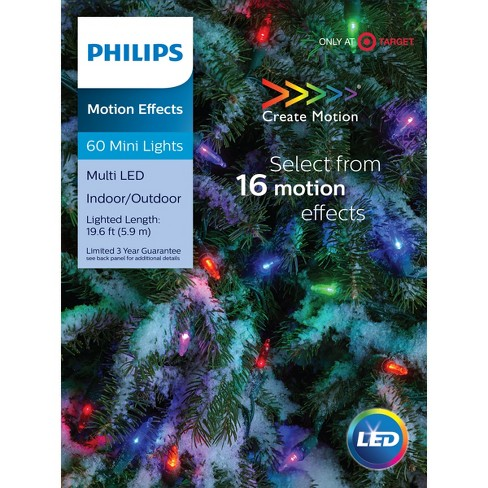 Philips 60ct Christmas LED 16 Function Smooth Mini Lights Multicolored GW - Philips 60ct Christmas LED 16 Function Smooth Mini... : Target