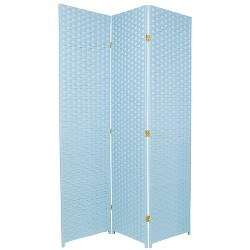 Oriental Furniture 6' Tall Woven Fiber Room Divider Special Edition 3 Panel
