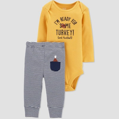 Baby Boys' 2pc Ready For turkey Top & Bottom Set - Just One You® made by carter's Yellow 6M