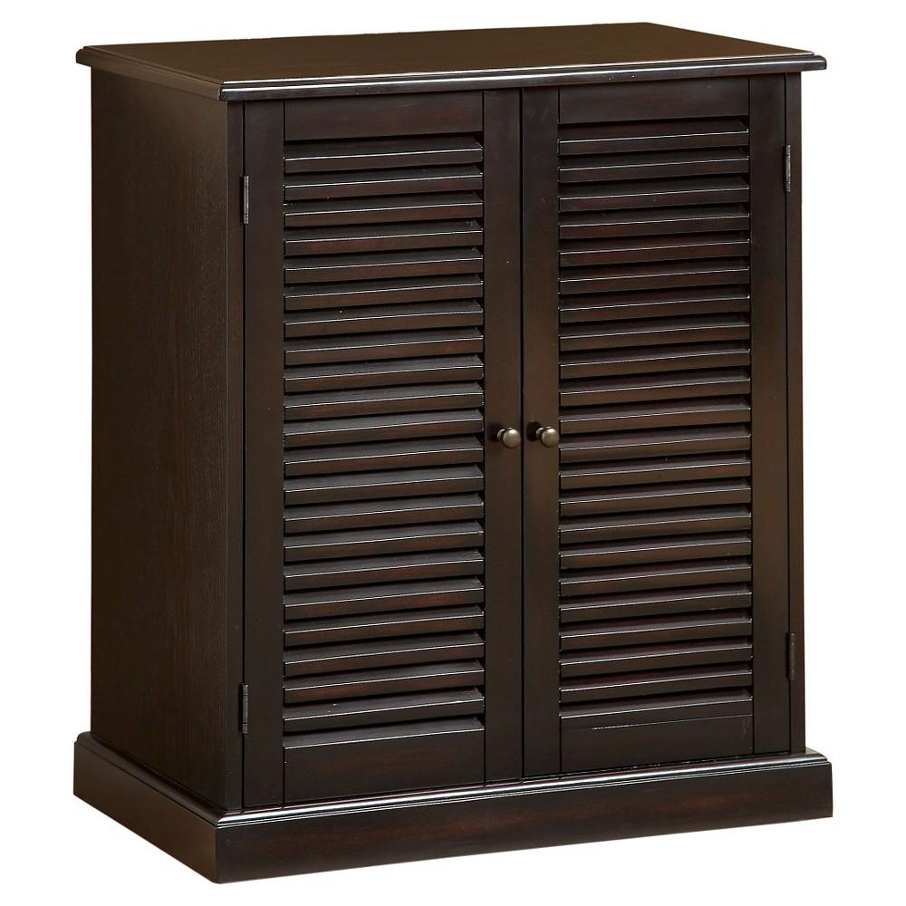 Image of miBasics 5 Shelf Shoe Cabinet - Espresso (Brown)