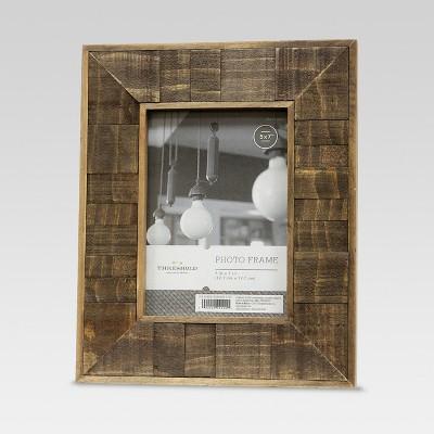 5 x7  Antiqued Wood Frame Coffee - Threshold™