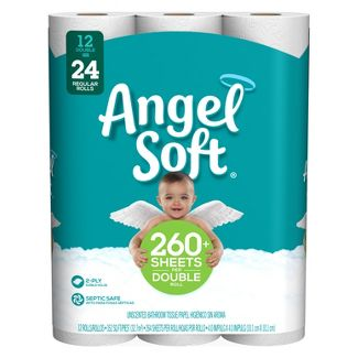 Angel Soft Toilet Paper - 12 Double Rolls