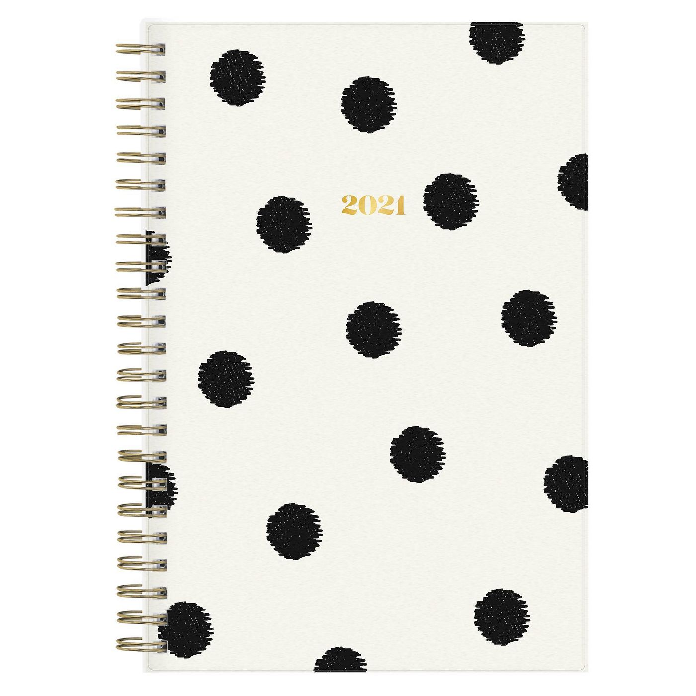 """2021 The Everygirl Planner 5"""" x 8"""" Frosted Plastic Weekly/Monthly Wirebound Luna - Blue Sky - image 1 of 11"""