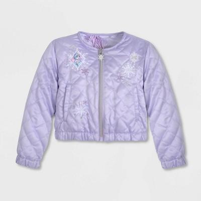 Girls' Disney Frozen Bomber Jacket - Purple - Disney Store