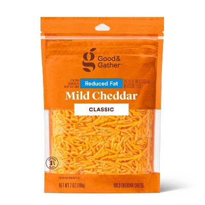 Shredded Reduced Fat Mild Cheddar Cheese - 7oz - Good & Gather™